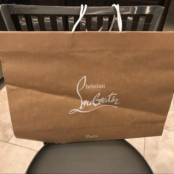 84430c9c117 Large Christian Louboutin shopping bag 24 x 18